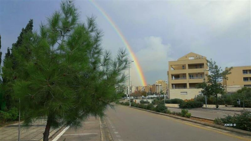 Be the rainbow of someone's cloud rainbow tree clouds ... (Lebanese University Faculty of Political Sciences)