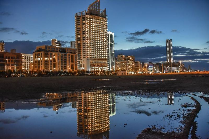 beauty in reflection @fsbeirut ..... lebanontraveler livelovebeirut...