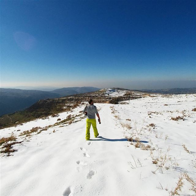 Time to follow the snow ❄Join us in our hike to Jabal Moussa on January...