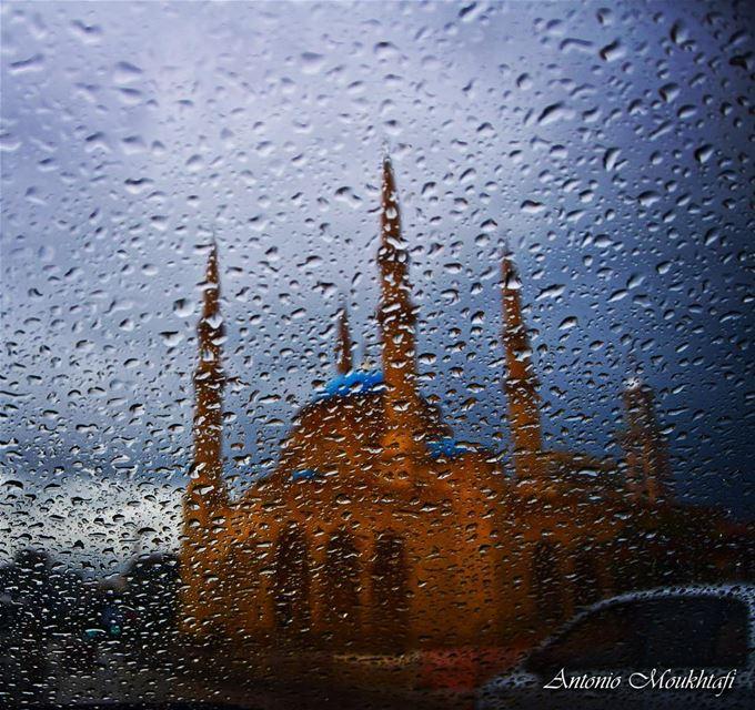 Al-Amin Mosque lebanon beirut sky clouds ... (Downtown Beirut)