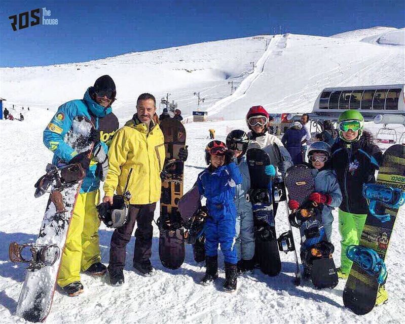 "We turn snowboarding 🏂 into an experience ‼️"" A family 👨‍👩‍👧‍👦 that... (Mzaar Kfardebian)"