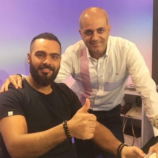 With the star Joseph Attieh. radio alrabia1078 interview lebanon ajman...