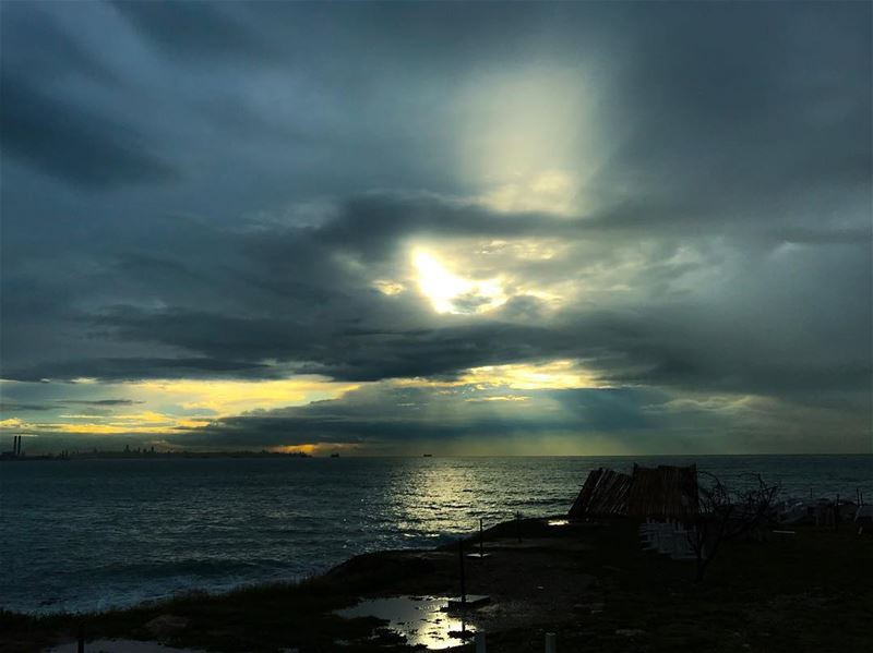 ~ The Peeking Sun ~____________________________ Sun Storm Sea ...