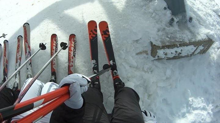 First ski ride 🎿⛷ skiseason2018 skilovers skierslife friends snowseason18... (Mzaar Ski Resort Kfardebian)