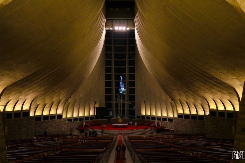 Peace ourladyoflebanon Lebanon harissa church architecture ... (Our Lady of Lebanon)