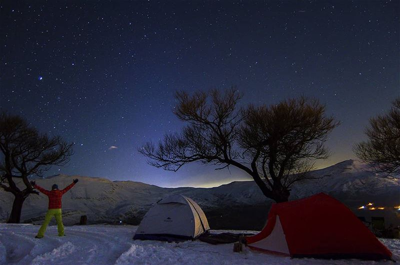 Nights to remember ❄🌌⛺Join us in our hike to Jabal Moussa on January 28!... (Lebanon)