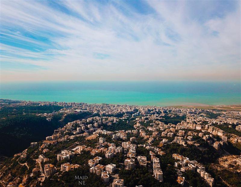 Have a happy Friday 🙂.... photography mavicpro lebanon drone ... (Bchamoun, Mont-Liban, Lebanon)