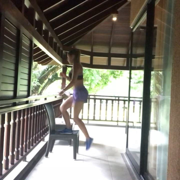 A 20min workout including breaks , it's perfect anywhere and I promise... (Constance Ephelia Resort, Seychelles)