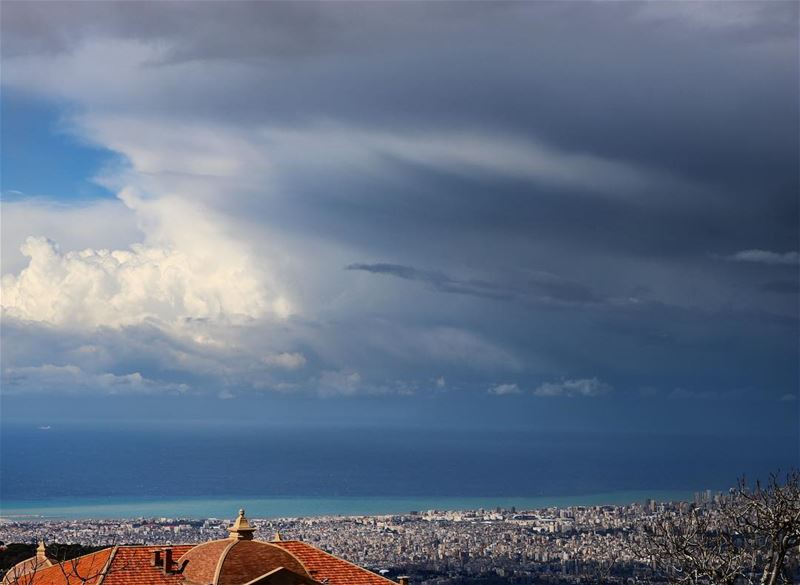 Stop and capture a moment... beirut lebanon clouds sea sky city ...