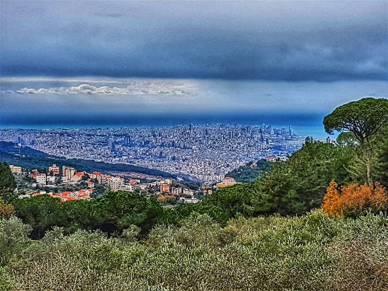 Beirut city on a cold and dull winter's day beirut beirutcity winter ... (Mar Chayia)