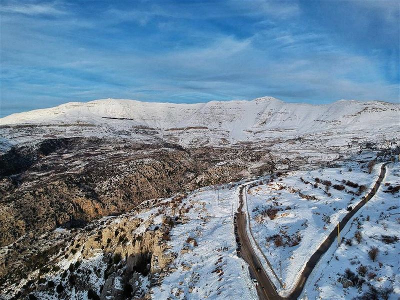 The Mountains are calling...and I must go 🏂❄️🗻 dronegear natgeo ... (Mount Lebanon Governorate)