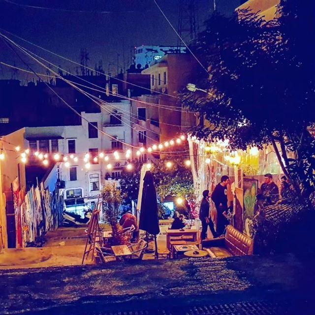 lebanon beirut marmikhael street fireworks ... (Mar Mikhael-Armenia The Street)