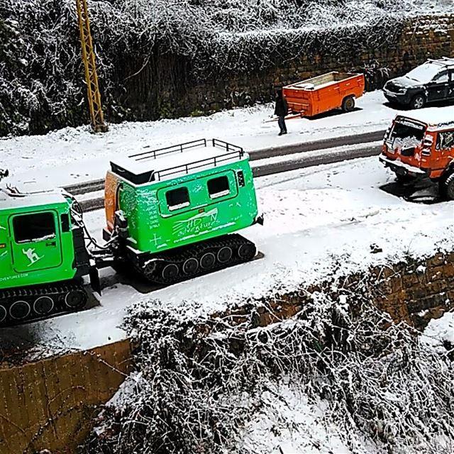 snowing snow ehden ehdenadventures lebanon thenorthface ... (Ehden Adventures)
