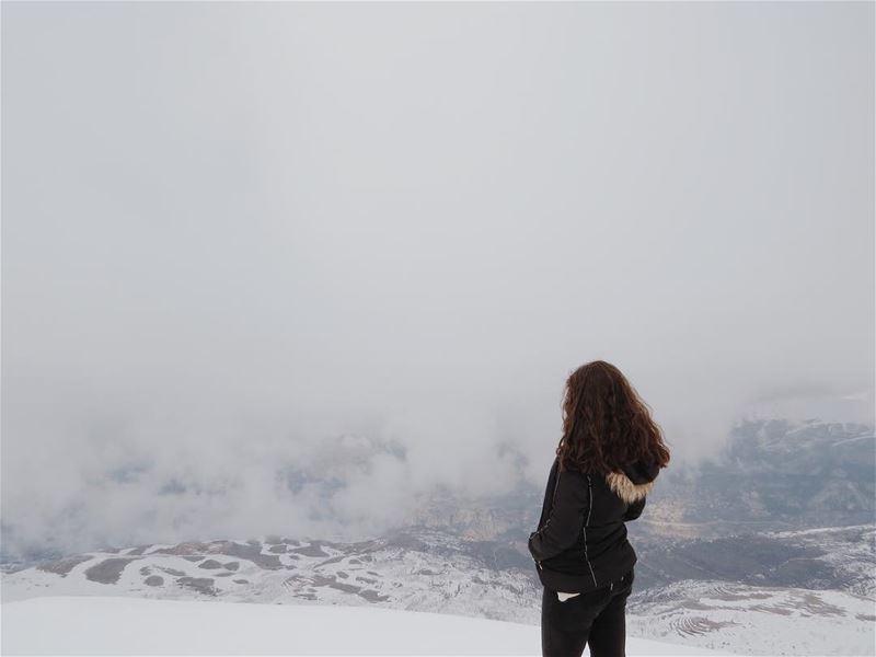 Breathtaking view ❄️🌫I'm in awe of you , Lebanon ❤ HiddenTreasures ... (Arz Tannoûrîne)