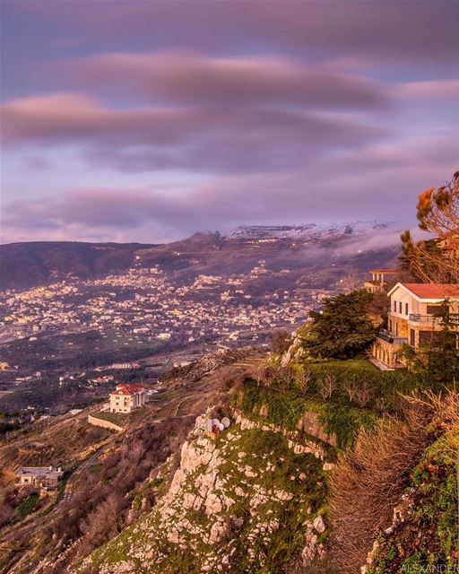 The blue hour! Beautiful mountain of Knaisseh and hammena / Falougha... (Sawfar, Mont-Liban, Lebanon)