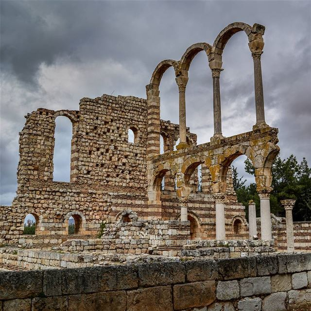 A stormy day | Beautiful ruins of Anjar, Bekaa, Lebanon livelovebekaa... (`Anjar, Béqaa, Lebanon)