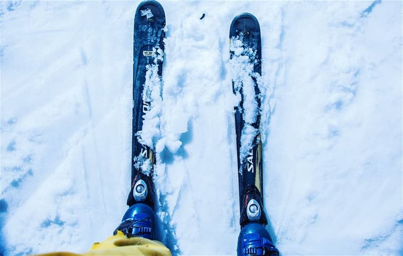 Ready 🎿🏔️ Ski snow Winter mountain best_moments Positivevibes ... (Faraya, Mont-Liban, Lebanon)