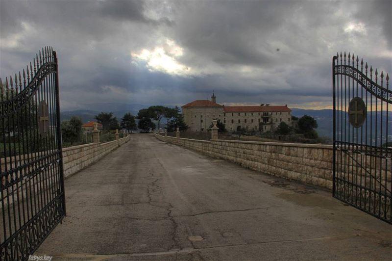 Sunday morning church monestir pray nature cloudy winter JesusChrist... (Mar Musa, Mont-Liban, Lebanon)