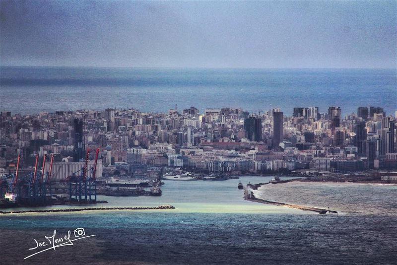 portbeirut beirut boat boats sea sky لبنان lebanon towers ...