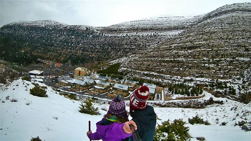 Successful Sunday Snow Hike in the mist❄---------------------------------- (Ehden, Lebanon)