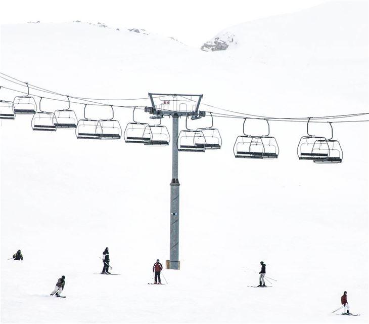 For the adventurous souls ⛷Tag your ski buddy❄ ImJustPassing... (Mzaar Kfardebian)