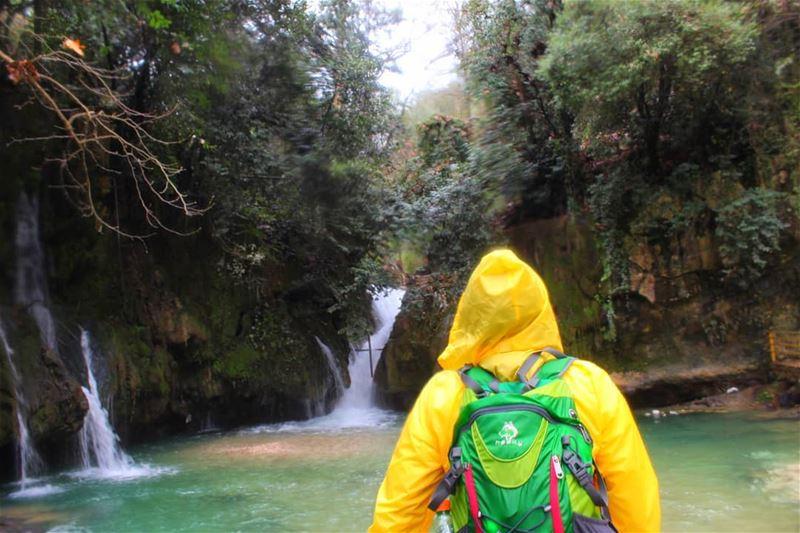 hikingadventures waterfall lovelycolors yellow baakline حبيتك ما بعرف (Shallalat Al Zarka شلالات الزرقا)