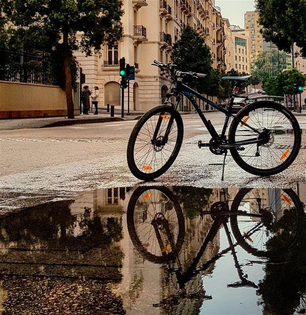 My Bike tells stories..🍃🚴♂️💦💦💦📍downtown beirut lebanon ........ (Downtown Beirut)
