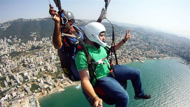 Escape the Ordinary 🔥... Lebanon adventure flight diving gopro ... (Jounieh)