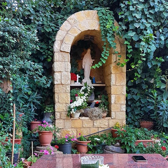 Good Morning. zahle lebanon garden green pray family virginmary... (Zahlé, Lebanon)