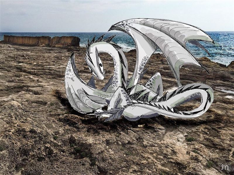 -Spotted in Batroun 🐉-... livelovebatroun illustration batroun ... (Batrun, Liban-Nord, Lebanon)