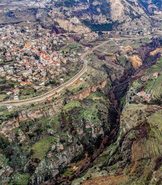 Holy Village💒... bchare northlebanon lebanon dji drones ... (Bcharré, Liban-Nord, Lebanon)