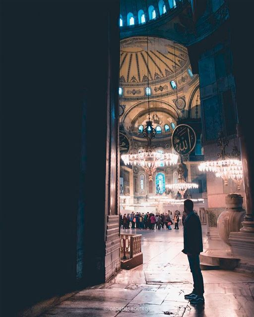 Take a deep breath of faith ✨-- lensebible theworldshotz ... (Hagia Sophia, Istanbul)