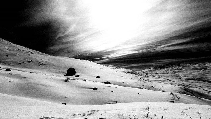 snowshoeing snow snowwhite blackandwhite black white sannine ... (Jabal Şannīn)