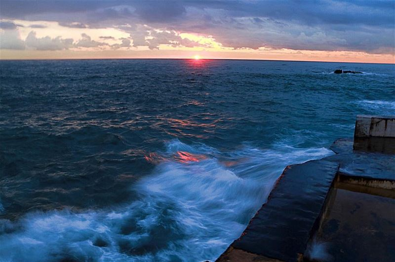 He calmed the storm to a whisper and stilled the waves -Psalm 107:29...... (Beirut, Lebanon)