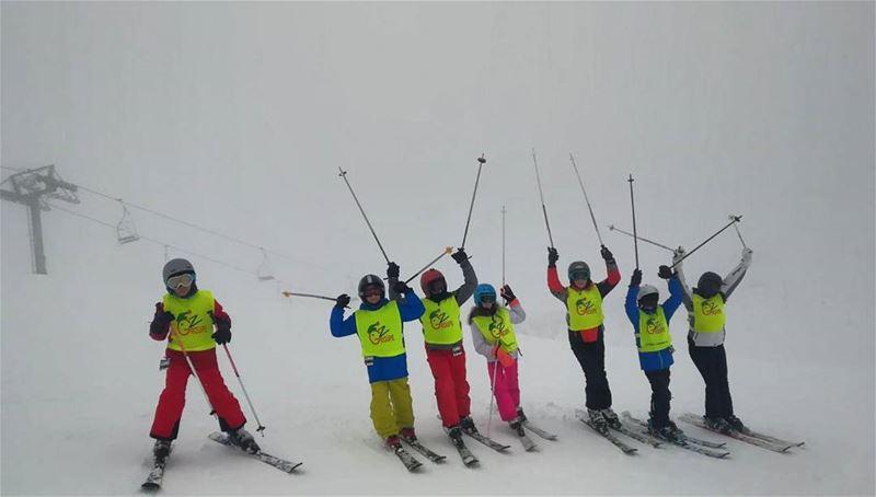 Avec Groupe Z c'est toujours skiable groupez skischool mzaar lebanon ... (Lebanon)