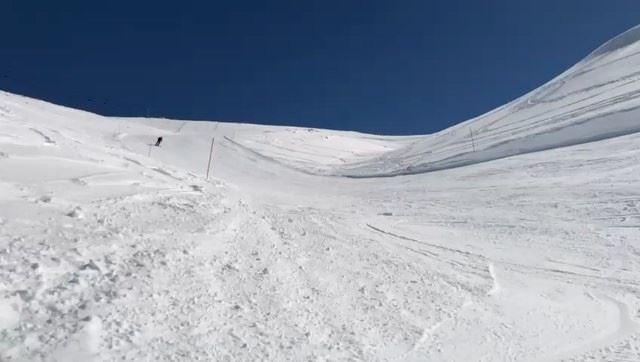 A bit of fun 😁 ski skiing adventure adrenaline slowmotion ... (Mzaar Kfardebian)