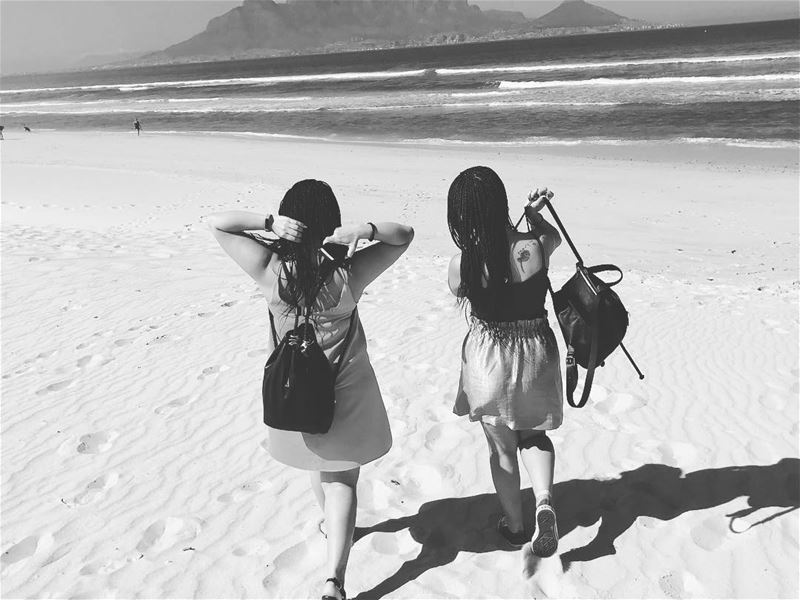 ~..Leave footprints of Love & Kindness wherever you Go..~ 👣👭🇿🇦 ... (Blaauwberg Beachfront)