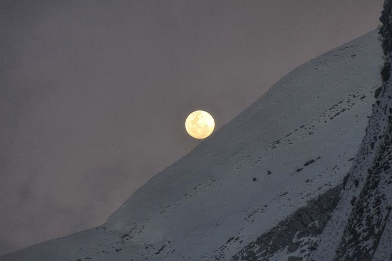 ... and like the moon, she had a side of her so dark that even the stars... (Faraya, Mont-Liban, Lebanon)