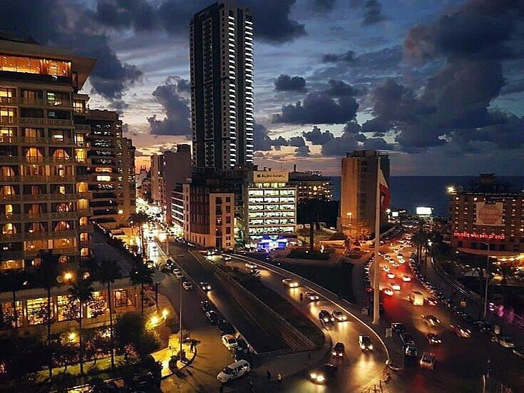 When night comes,No sleep in this City 🌃💙------------------------------ (Beirut, Lebanon)