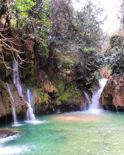 wonderfulview natureaddict amazingday watercolor soundofwater ... (الشلالات الزرقاء)