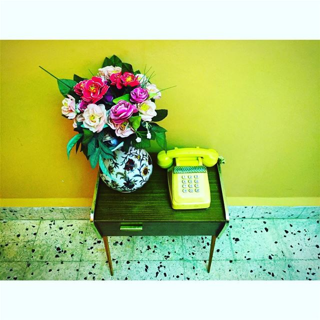 ☎️ آلو حياتي... .... flowers oldies oldbutgold telephone vintage ...