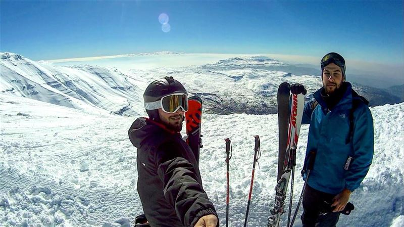 Ski mate 🏔❄️⛷ gopro goprophotography goproleb goprolebanon goprome... (Mzaar Kfardebian)