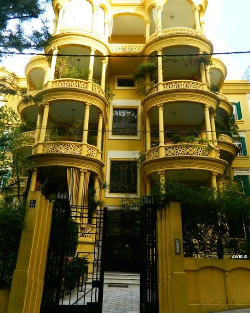 yellow building streetphotography noperson travel tourism landscape... (Clemenceau 326)