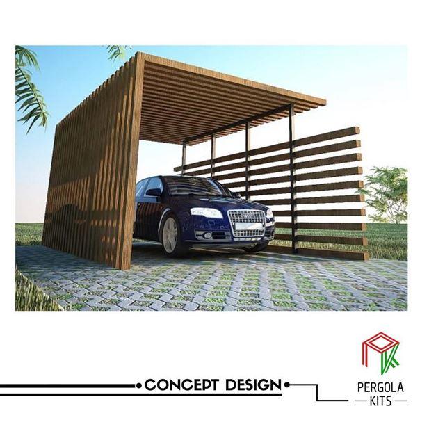 Park with Style🅿️ ConceptDesign PergolaKitsLebanon. Pergola Design ...