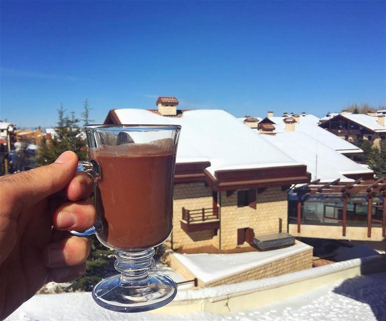 cheers.... chocolate chocolatchaud hot chocolates snow view ...