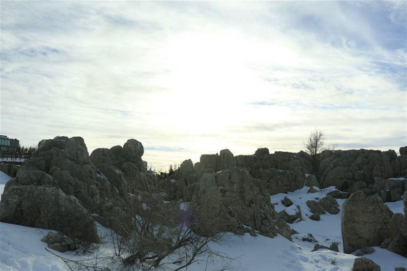 Flare over Fairy Rocks. .. thisislebanon79 viewbug lebanoninapicture ... (Faqra scenes)