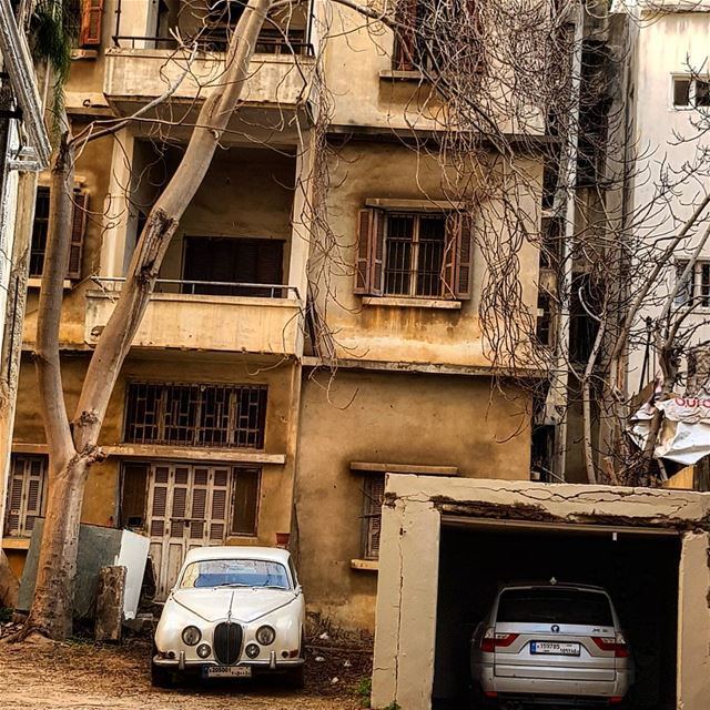 Love this old jaguar vintage car oldbutgold olddays livelovebeirut ... (Beirut, Lebanon)