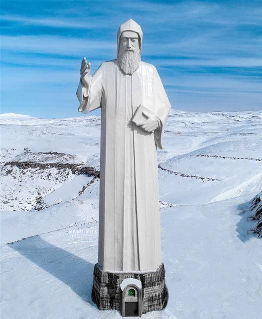 Have A Blessed Sunday 🙏❄️... faraya lebanon dji drones ... (Saint Charbel-Faraya)