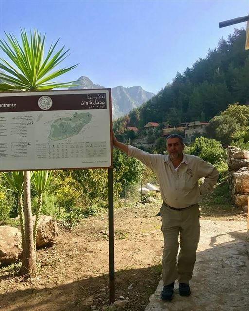 Up for an afternoon hike? JabalMoussa's guard Marcel is waiting for you...