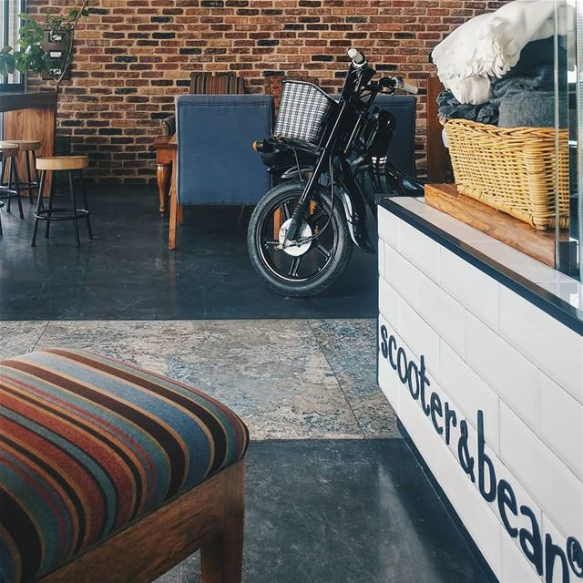 The best coffee in town 💙 ☕ @scooterandbean scooterandbean lebanon ... (Scooter & Bean)
